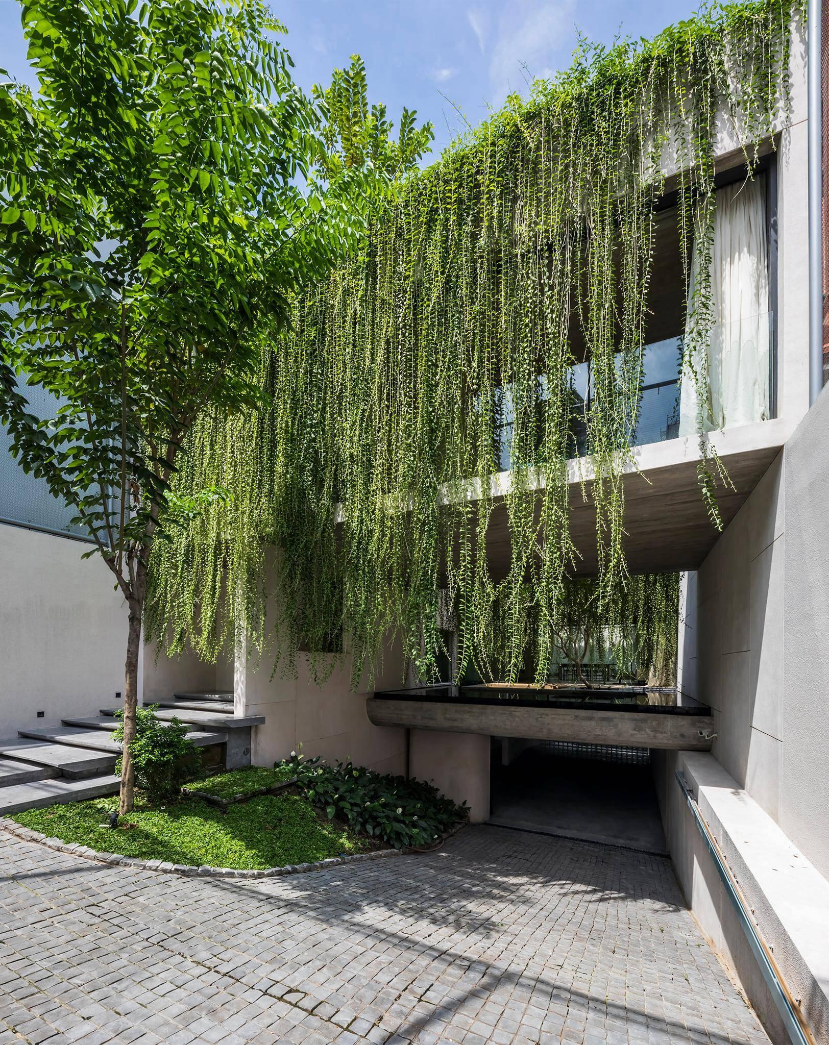 """Bước qua cửa, """"công viên"""" như mở ra trước mắt với cây cối xanh tươi thay vì chỉ là vài mảng cây xanh nhỏ ở lối vào hay bậc tam cấp"""