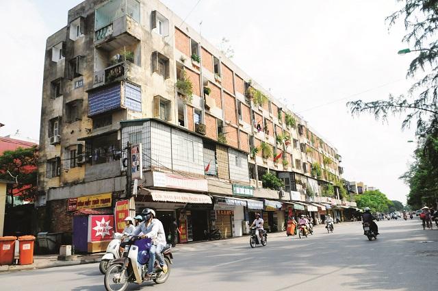 Khu chung cư trên phố Tôn Thất Tùng. Ảnh: Hải Linh