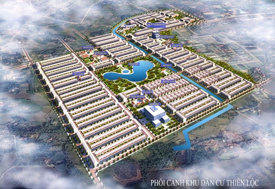 Phối cảnh khu dân cư Thiên Lộc tại Thành phố Sông Công