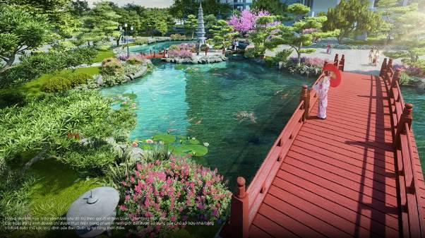 """Vườn Nhật sẽ tạo nên """"chất"""" sống riêng cho cư dân The Zenpark – an nhiên, tĩnh lặng giữa thành phố biển hồ sôi động"""