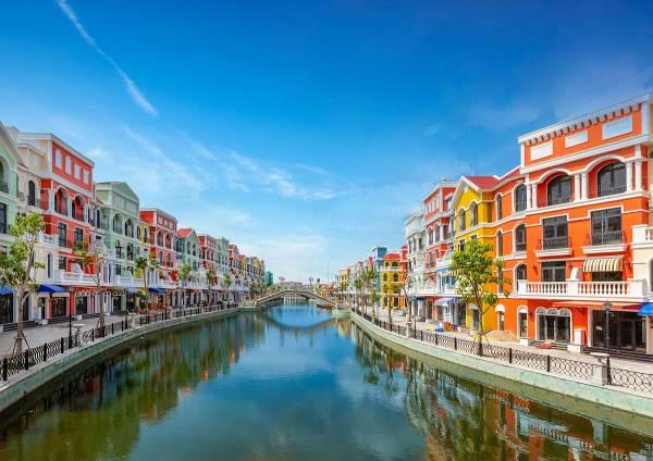 Kênh đào Venice tại dự án Grand World (Hình ảnh chụp thực tế tại dự án)