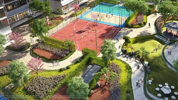 """Chất """"động"""" đầy sôi nổi, hứng khởi từ sân tập thể thao, sân gym, khu vui chơi trẻ em… bên cạnh chất """"tĩnh"""" của vườn Nhật The Zenpark"""