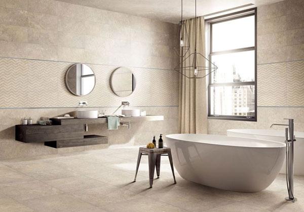 Sử dụng gạch chống trơn mang lại hiệu quả thẩm mỹ rất lớn cho thiết kế phòng tắm của gia đình bạn
