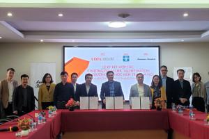 Lễ ký kết thỏa thuận hợp tác chương trình LIXIL Talent Match giữa Trường Đại học Kiến trúc Hà Nội, Công ty TNHH LIXIL Việt Nam và Kiến Việt