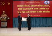 Hội nghị Tổng kết công tác Đảng năm 2020, triển khai nhiệm vụ trọng tâm năm 2021 và Lễ trao tặng Huy hiệu 30 năm tuổi Đảng