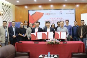 Lễ ký kết thỏa thuận hợp tác chương trình LIXIL Talent Match giữa Trường Đại học Xây dựng, Công ty TNHH LIXIL Việt Nam và Kiến Việt