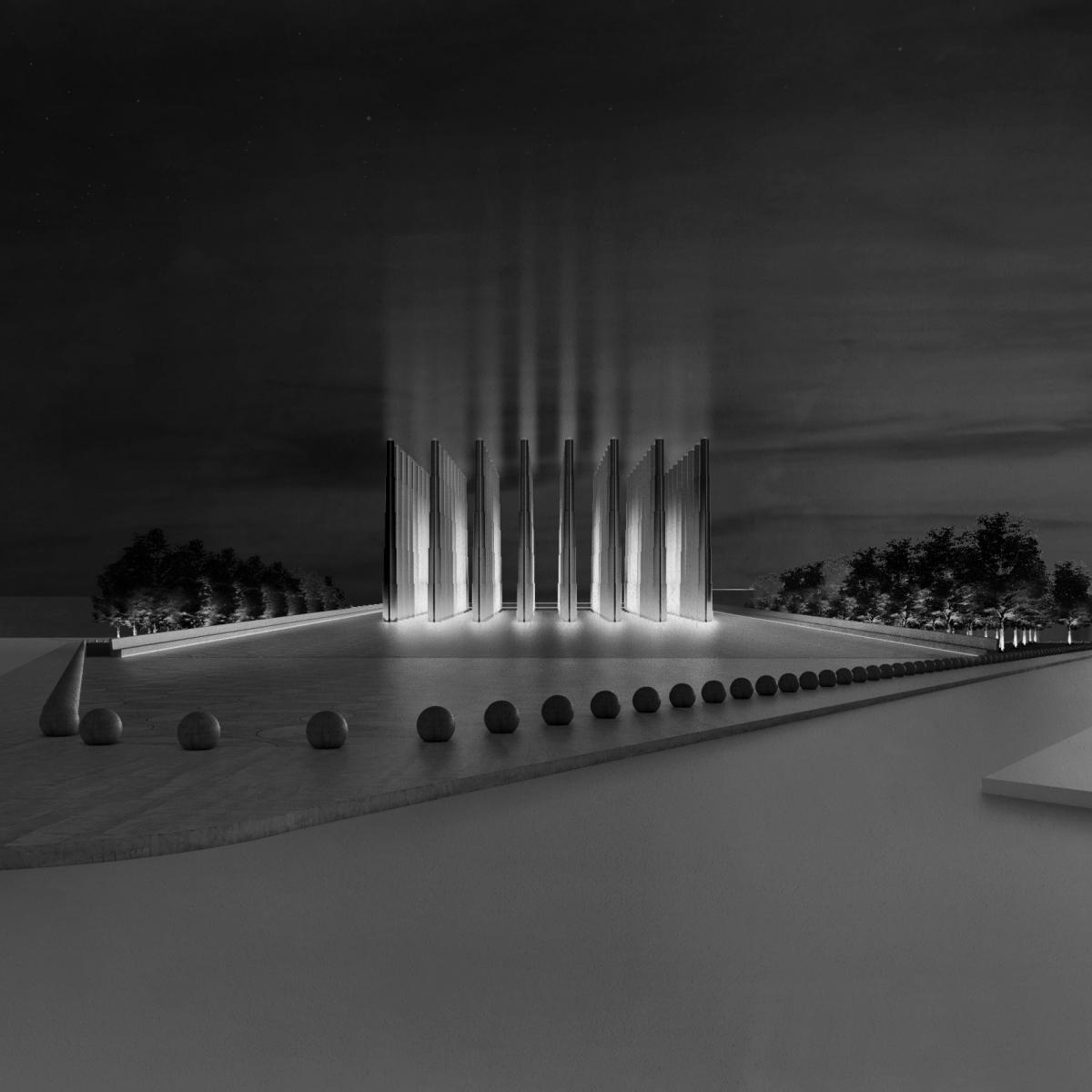 Tại quốc gia Tây Phi Niger, Công ty thiết kế Adjaye Associates sẽ hoàn thành một công trình đài tưởng niệm. Với kết cấu gồm 56 cột bê tông hình ngôi sao dài 20 mét lên không trung, nằm bên trên một căn phòng lớn.