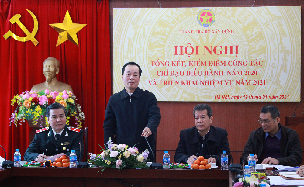 Bộ trưởng Bộ Xây dựng Phạm Hồng Hà biểu dương những thành tích trong công tác thanh tra 2020