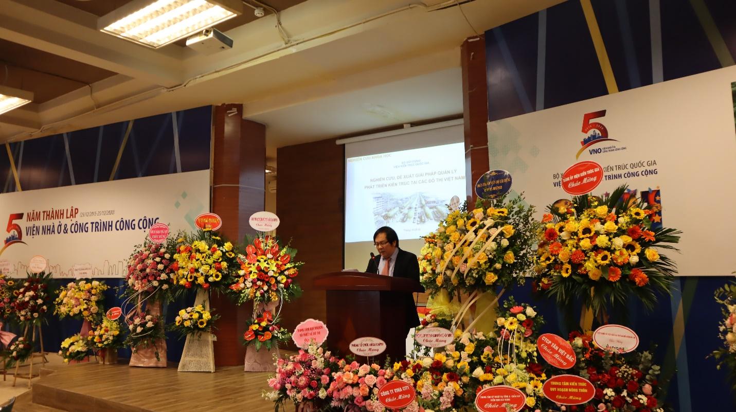 Ông Đỗ Thanh Tùng – Viện Trưởng Viện Kiến trúc Quốc gia phát biểu tại buổi lễ