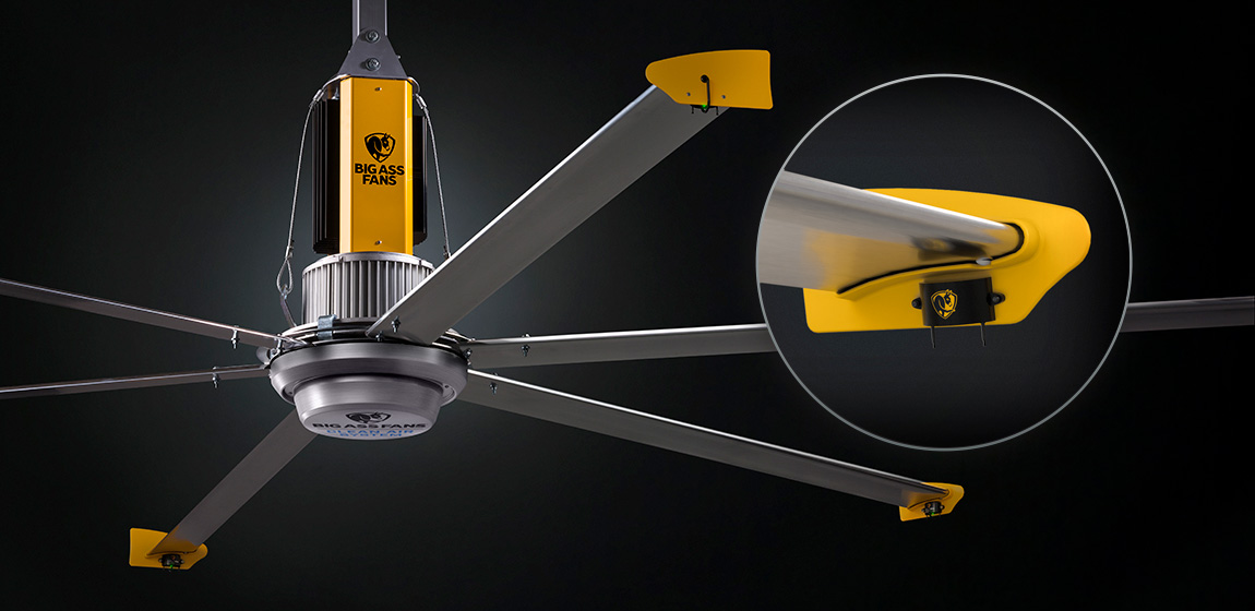Công nghệ khử khuẩn bằng ION được tích hợp sẳn trên cánh quạt Powerfoil
