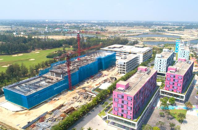 """Dự án condotel Cocobay Đà Nẵng sau thời gian dài """"ngủ đông"""" gần đây được xây dựng trở lại"""