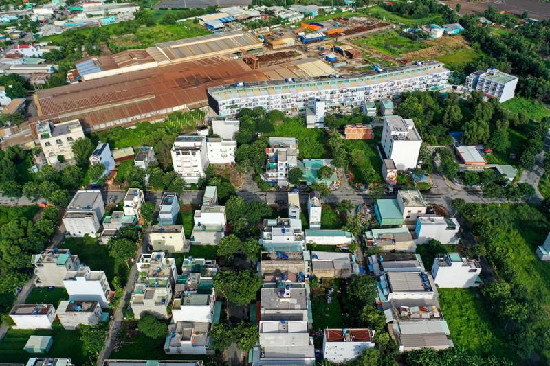Một dự án ở huyện Bình Chánh chưa được giao đất đã xây hơn 200 căn nhà bán cho khách hàng
