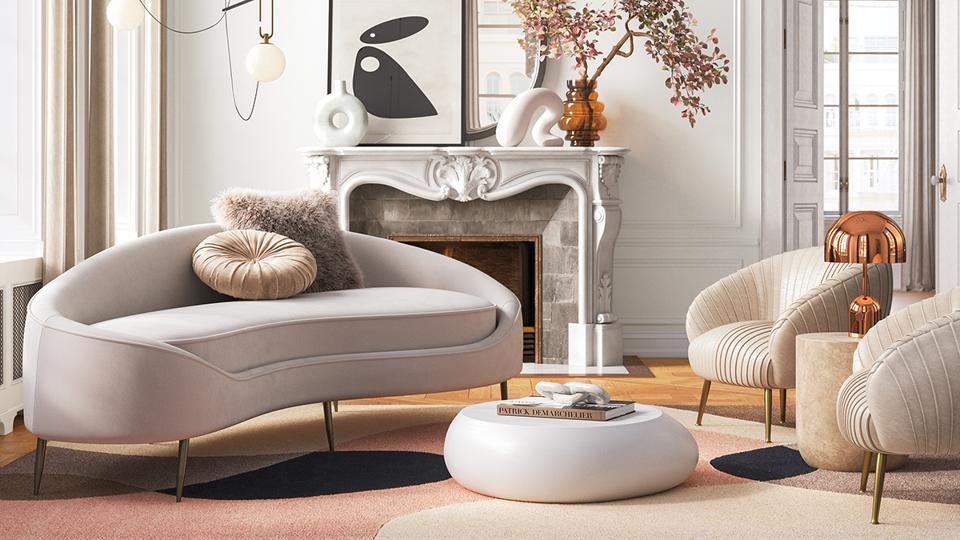 Đường cong lớn tạo nên sự thay đổi vượt bậc cho đồ nội thất