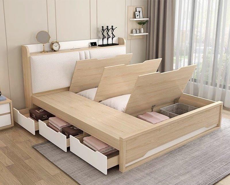 yNội thất quan trọng và chiếm nhiều không gian trong phòng ngủ chính là chiếc giường, đây cũng là nội thất quyết định tới thẩm mỹ của căn phòng, đồng thời ảnh hưởng tới giấc ngủ của gia chủ. Một chiếc giường tích hợp nhiều tính năng sẽ giúp căn phòng của bạn trở nên đẹp hơn, đem lại giấc ngủ ngon.
