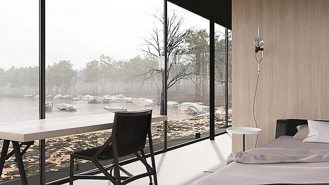 """Ý tưởng của kiến trúc sư Gotvyansky không chỉ độc đáo phù hợp với thời công nghệ 4.0 mà có thể giúp cho người sinh sống bên trong giữ được sự riêng tư khi điều chỉnh toàn bộ công trình """"biến mất"""". Và cũng chỉ cần nhờ một cú chạm trên điện thoại, cả ngôi nhà sẽ từ dưới mặt đất trở lại hình dáng bình thường."""