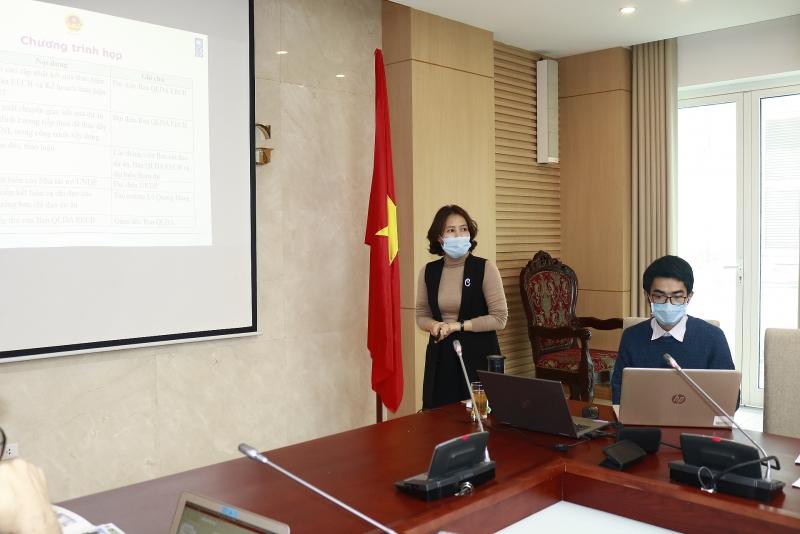 Bà Hoàng Thị Kim Cúc – Quản đốc Dự án EECB báo cáo tiến độ thực hiện dự án và kế hoạch triển khai trong năm 2021