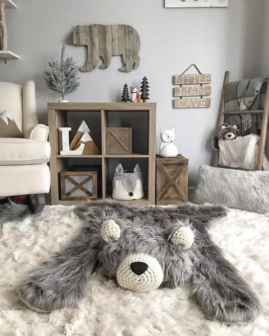 Không gian ấm cúng để khuyến khích con bạn ngủ đông lâu hơn một chút
