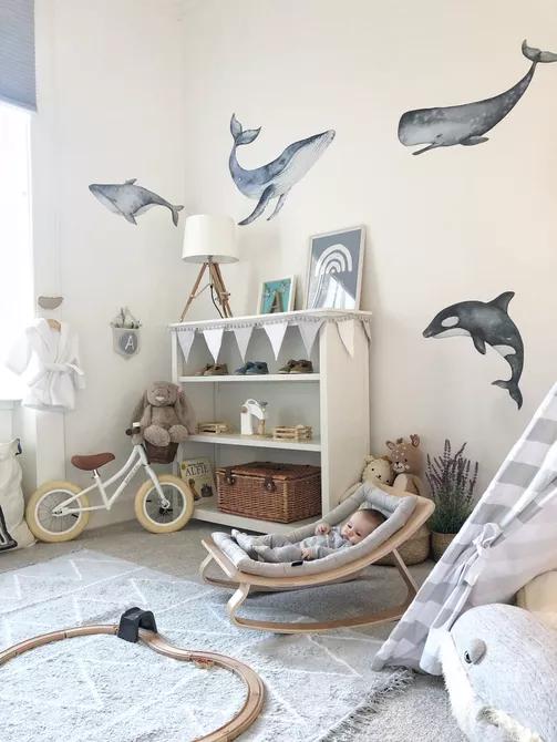 Mang đến cho con bạn một số người bạn lớn và mạnh mẽ theo chủ đề cá voi.
