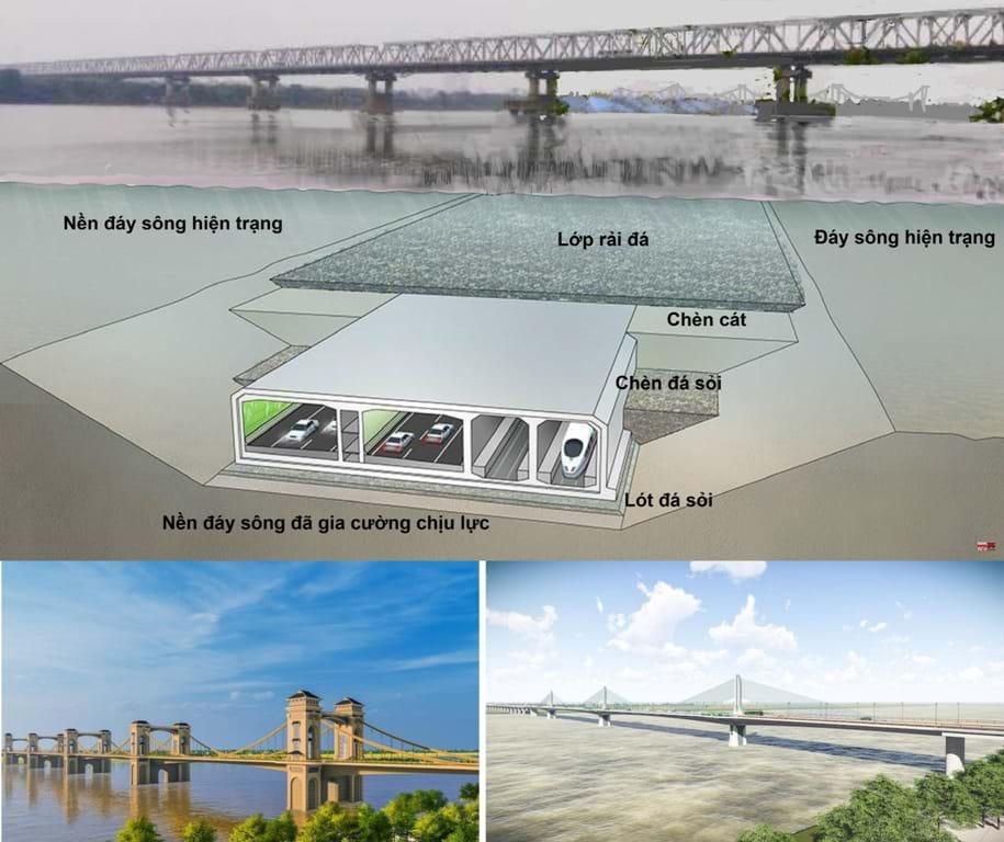 Cầu ngầm Trần Hưng Đạo (City Solution đề xuất) phù hợp Quy hoạch GTVT 2016, khắc phục nhược điểm của hai phương án do TEDI vẽ là cầu giả cổ: tĩnh không thấp/hạn chế đường thủy và cầu tân thời: cột cao/cản trở phễu bay hàng không