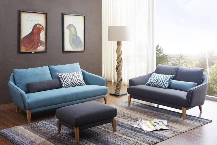 Bộ bàn ghế sofa văng đẹp, với màu sắc đơn giản tạ sự ấm cúng cho phòng khách có diện tích nhỏ