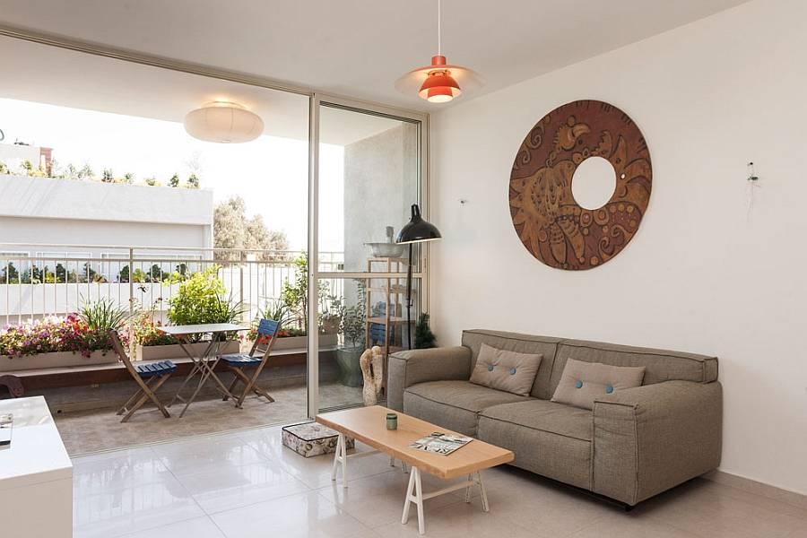 Bộ sofa phòng khách mini giá rẻ với kích thước 1m55 tạo sự rộng rãi và thông thoáng cho không gian phòng khách