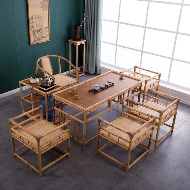 Mẫu bàn ghế gỗ phòng khách Kiểu Nhật với phong cách thiết kế độc đáo, mới lạ sẽ là nơi thưởng thức trà ngon, rượu ngon vô cùng lý tưởng