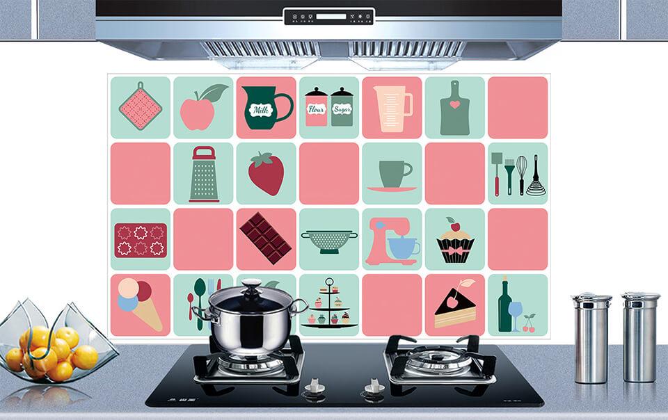 Decal dán bếp vừa dùng trang trí vừa mang lại tính thẩm mỹ cao