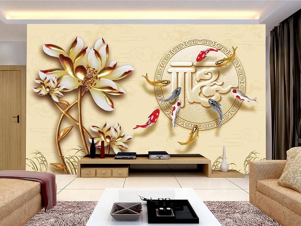 Giấy dán tường như một làn gió mới giúp cho việc trang trí nhà trở nên đơn giản tinh tế hơn