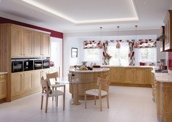 Chọn rèm họa tiết tươi vui hợp không khí tết cho bếp