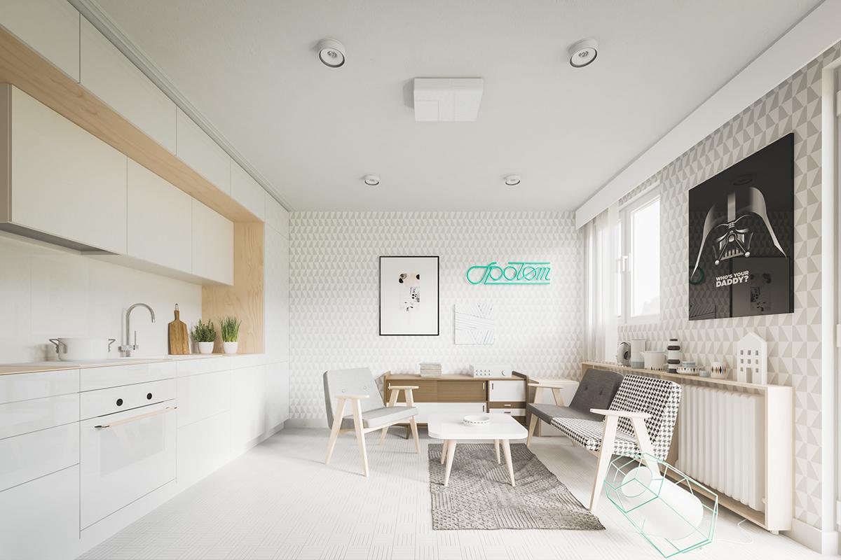 Màu sáng và đường nét đơn giản luôn làm cho căn phòng trông rộng hơn một chút so với thực tế