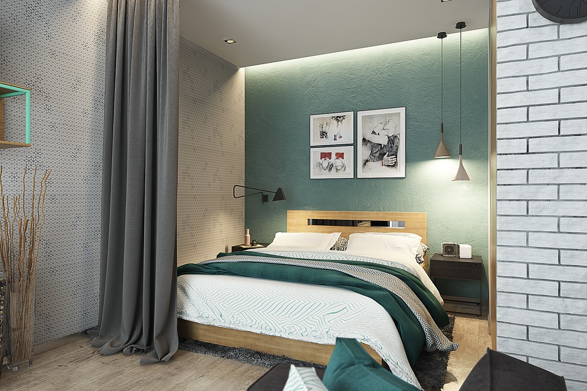 turquoise-and-white-bedroom