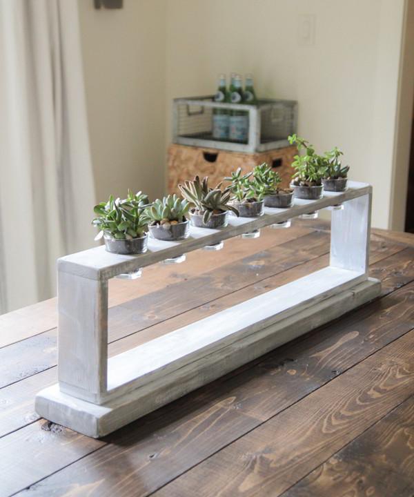 Tự làm một chiếc kệ gỗ nhỏ trang trí bàn học thêm một vài chậu xương rồng xinh xắn
