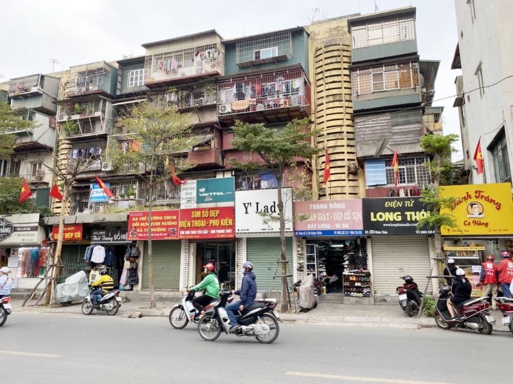 Làm tốt công tác cải tạo, xây dựng mới các khu chung cư cũ là giải pháp quan trọng để nâng cao chất lượng sống của người dân Thủ đô, cải thiện diện mạo cảnh quan đô thị. Ảnh: Luyện Đinh