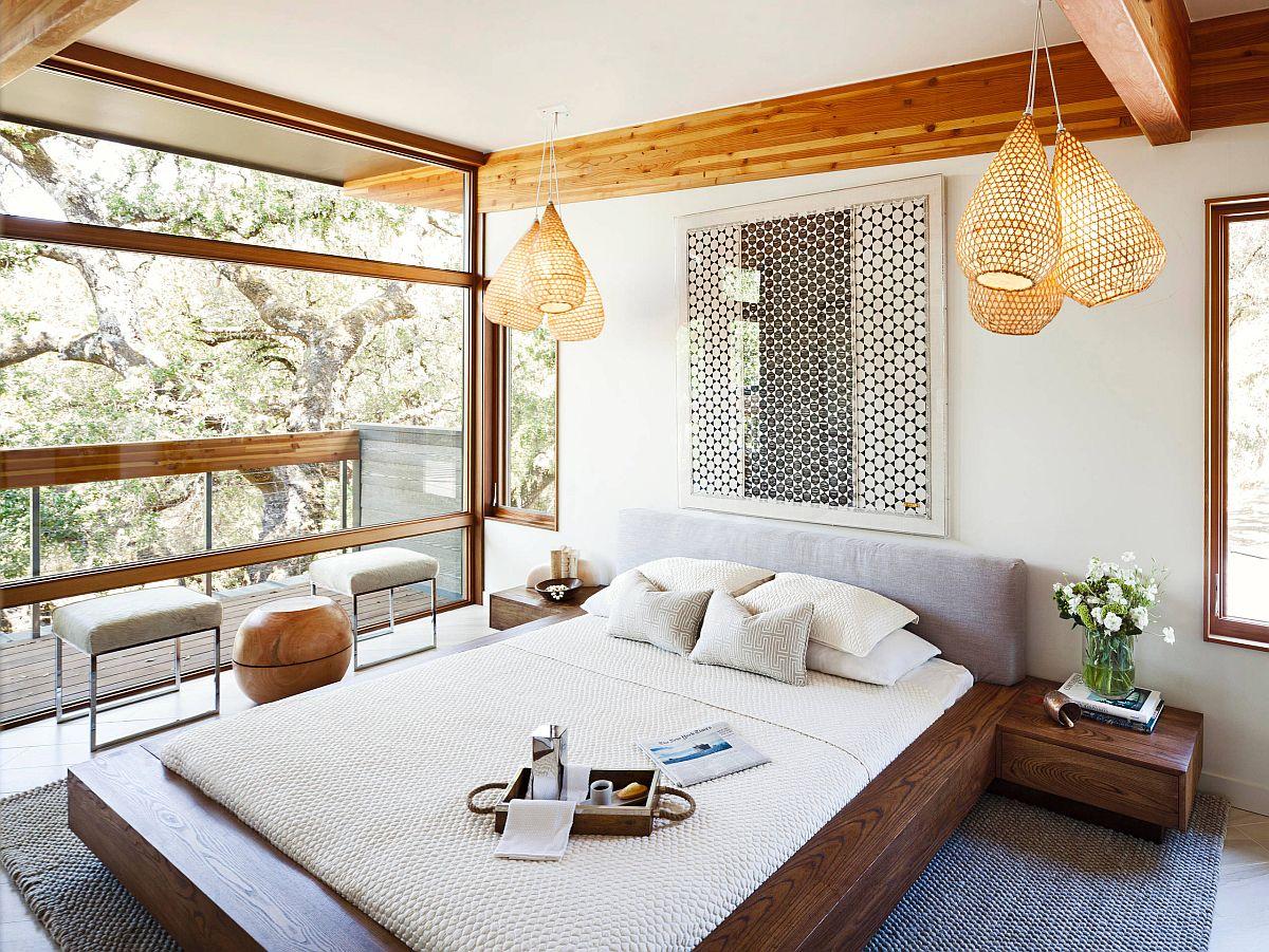 Phòng ngủ Scandinavian đơn giản, hiện đại và tràn ngập ánh sáng mang phong cách Zen