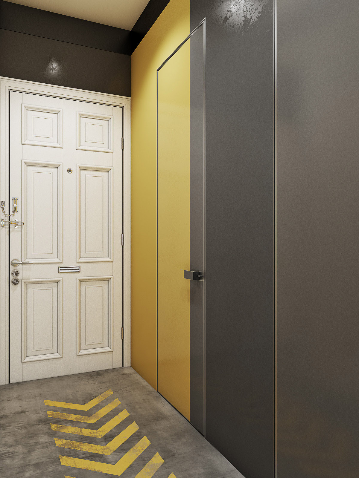 Sơn hai màu ngụy trang cửa phòng tắm