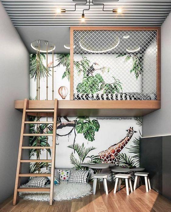 Sử dụng tranh vẽ tường để decor phòng ngủ nhỏ cũng ấn tượng đấy chứ. Diện tích nhỏ bạn có thể thoải mái sáng tạo với các cung bậc cảm xúc, với sự xuất hiện của những mảng tường được trang trí sắc màu và có câu chuyện riêng của chính mình.