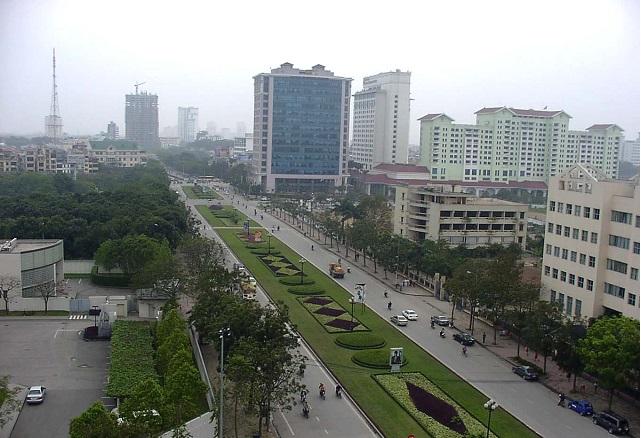 Đường Liễu Giai, quận Ba Đình. Ảnh: Thanh Hải