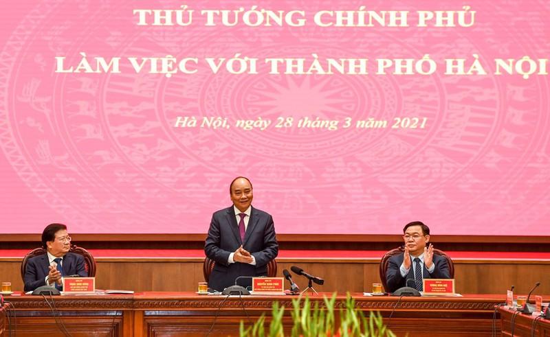Thủ tướng Chính phủ Nguyễn Xuân Phúc tại buổi làm việc