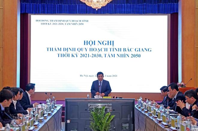 Cuộc họp về Quy hoạch tỉnh Bắc Giang