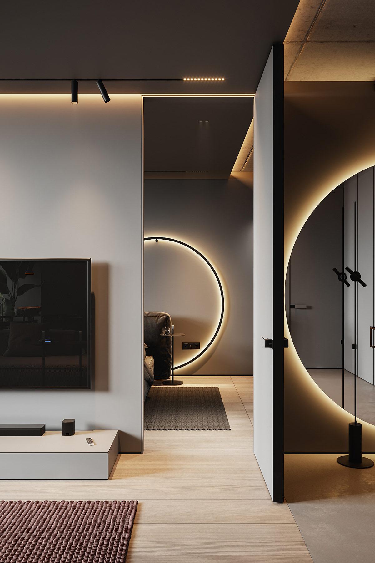Một vòng ánh sáng khác tạo ra ánh sáng rực rỡ tuyệt vời qua ô cửa phòng ngủ