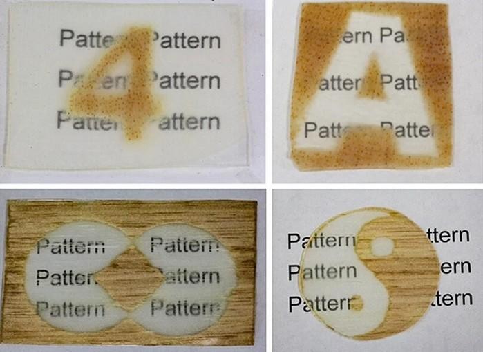 Tuy gỗ trong suốt không hoàn toàn biến hình tốt như kính nhưng đủ để dễ dàng nhìn thấy các vật thể đằng sau