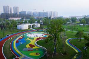 Trạm nghỉ trong Công viên Linping