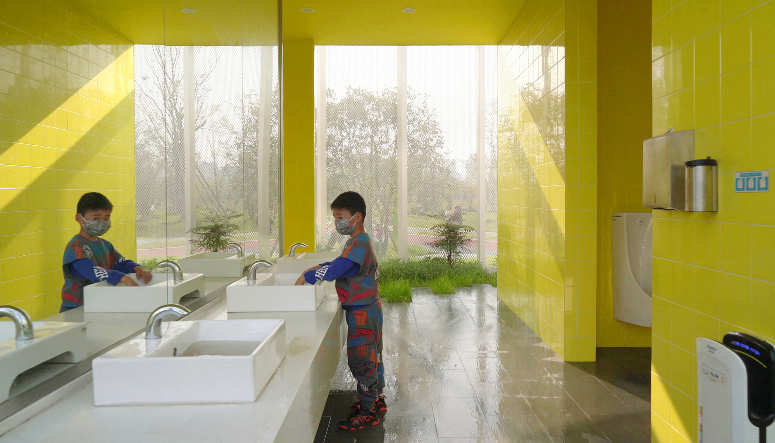 04-4模糊室内外边界的洗手台【Hand_washing_table_with_blurred_indoor_and_outdoor_boundaries】