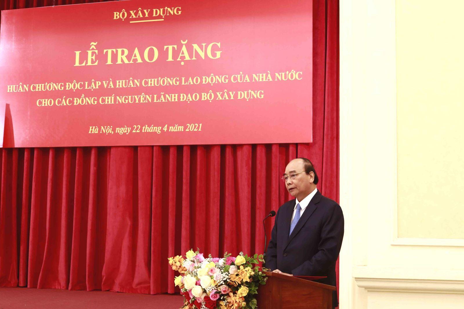 Chủ tịch nước Nguyễn Xuân Phúc phát biểu tại buổi Lễ