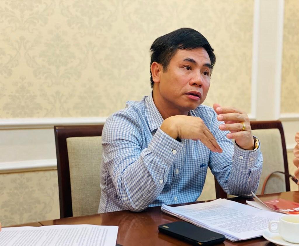 Ông Nguyễn Mạnh Khởi - Phó Cục trưởng Cục Quản lý nhà và thị trường bất động sản khẳng định, Nghị định 30 không gây khó khăn hay cản trở doanh nghiệp. Ảnh: Thu Hằng/BNEWS/TTXVN