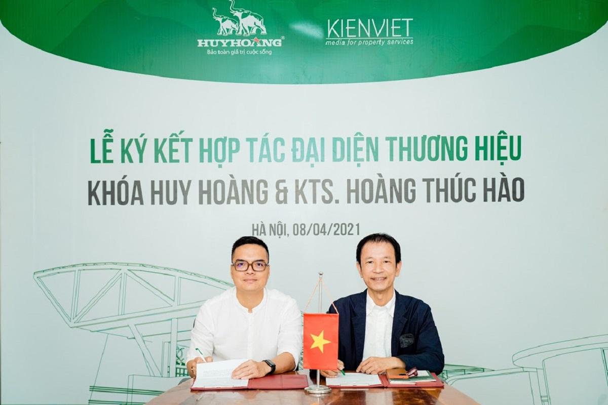 Tổng Giám đốc Công ty TNHH Khoá Huy Hoàng Nguyễn Quang Huy và KTS Hoàng Thúc Hào