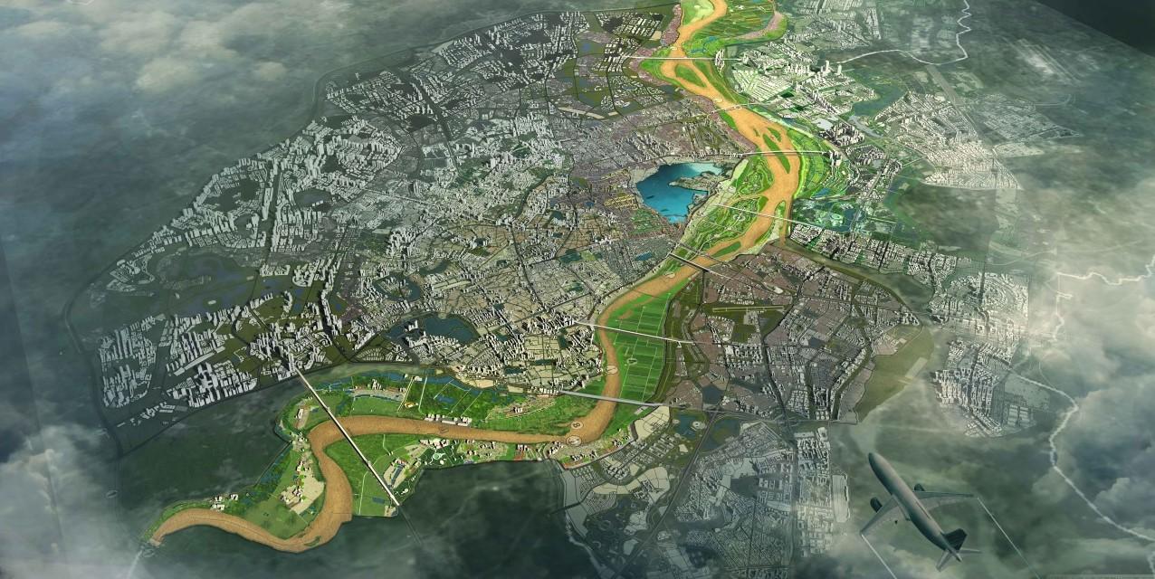 Phối cảnh quy hoạch phân khu đô thị sông Hồng