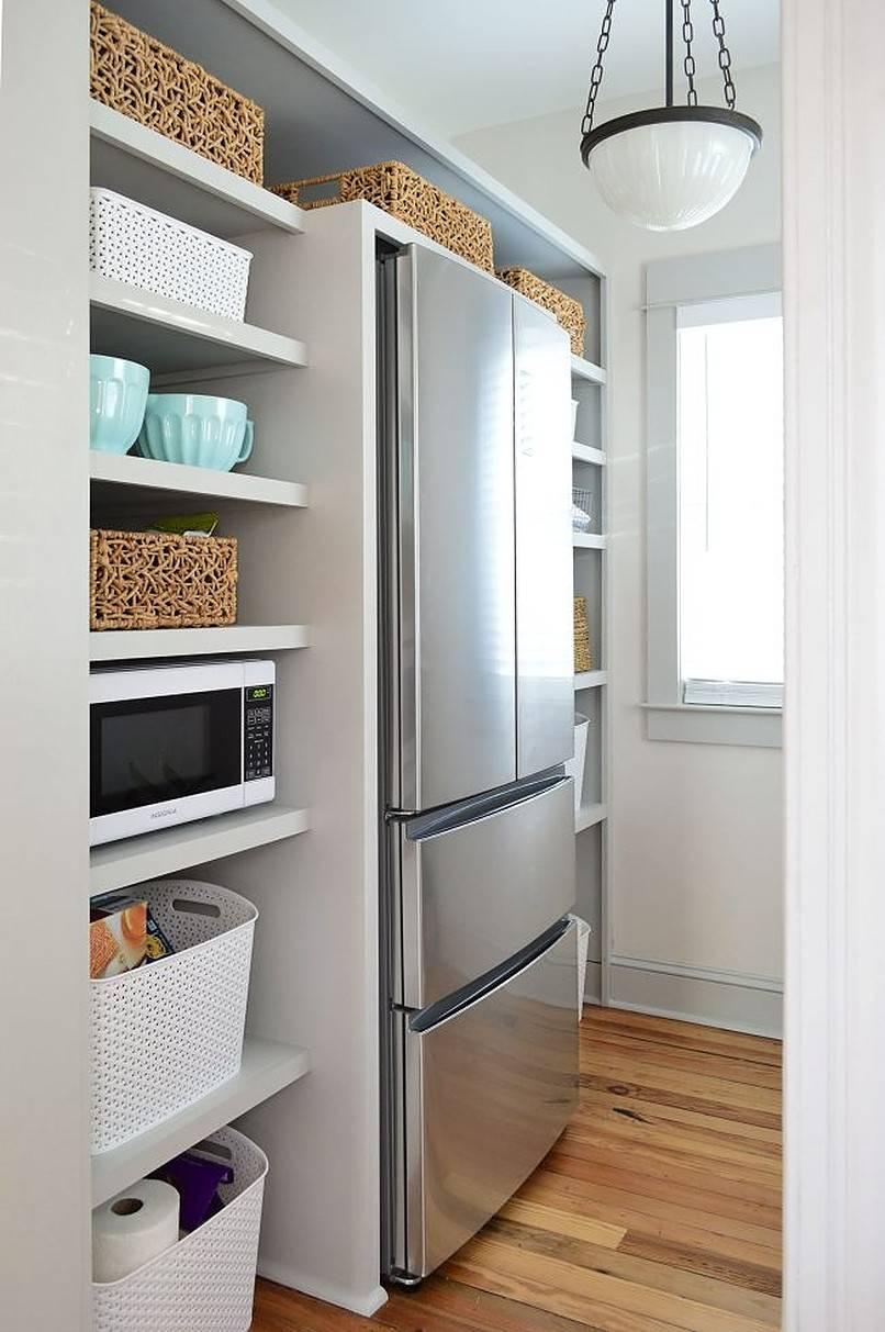 Bố trí không gian lưu trữ xung quanh tủ lạnh