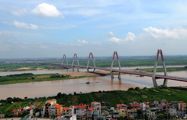 Khu vực ngoài đê sông Hồng, thuộc địa bàn quận Tây Hồ, Hà Nội. Ảnh: Thanh Hải