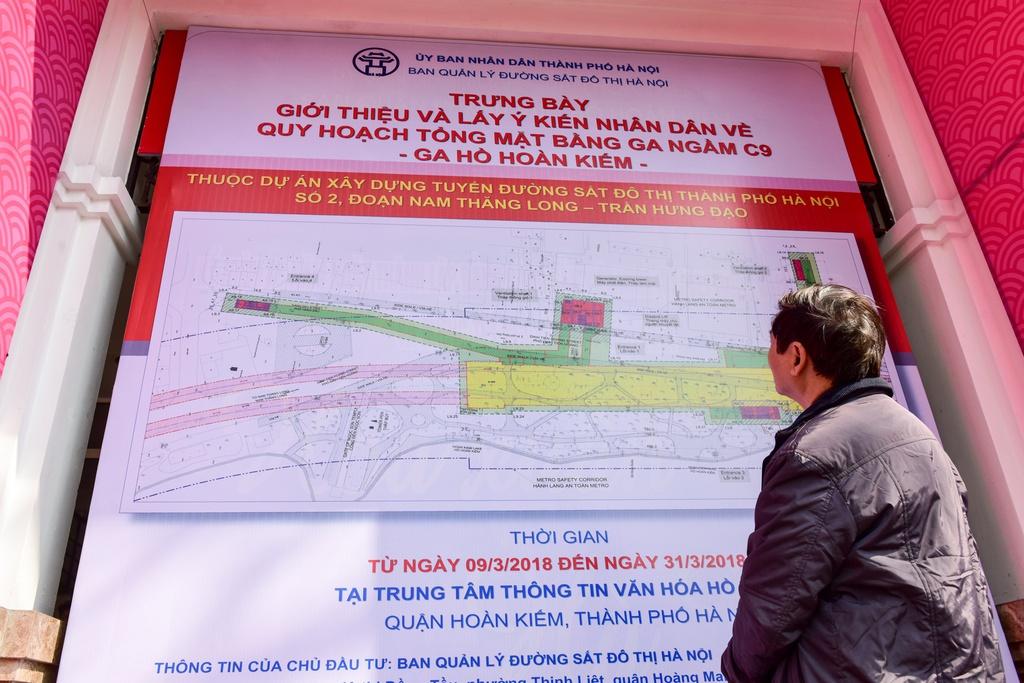 Sau nhiều năm, Hà Nội và các bộ, ngành vẫn chưa thống nhất được vị trí xây ga ngầm C9. Ảnh: Việt Hùng